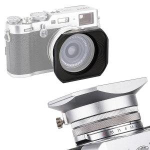 JJC 후지필름 X70 X100 X100T X100F 사각 렌즈 후드