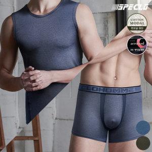 제클라인 런닝+드로즈팬티 남성속옷 6종세트 면모달