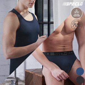 글래스 런닝+삼각팬티 남성속옷 6종세트 골지패턴