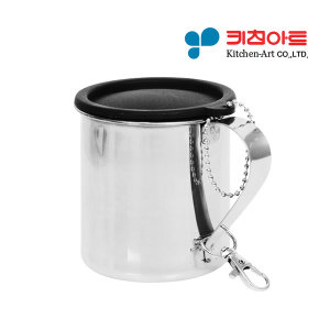 키친아트 220ml 스텐컵 뚜껑형 캠핑컵 등산컵 머그컵