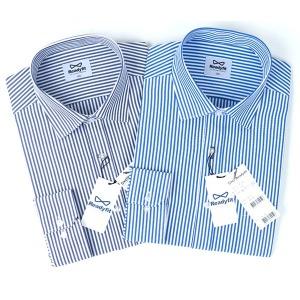 런던스트라이프 블루 네이비 긴팔 와이셔츠_RF1142_3