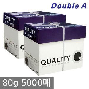 더블에이 퀄리티 A4 복사용지(A4용지) 80g 5000매