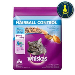 위스카스 헤어볼(닭고기와참치) 3kg 고양이사료