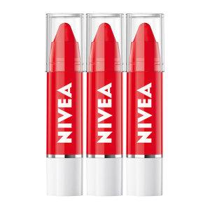 니베아 립케어 립크레용 레드 팝 X 3개