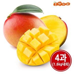 (생 망고) 애플 망고 4과 (1.6kg내외)