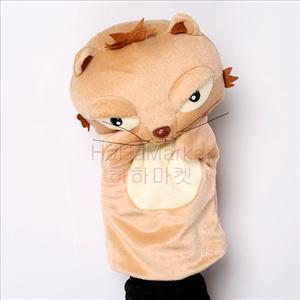 봉제 구연동화 여자아이 고양이 개구리 오리 손인형