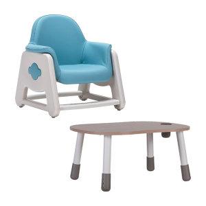 뚜뚜 높이조절 아이 책상 의자 세트 (핑크 블루)