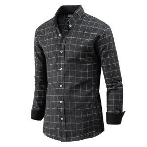 남자 긴팔 블랭킷 체크 남성 기모 셔츠 남방 sp0765