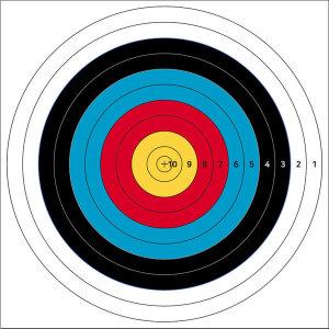 국제양궁과녁 90cm 사방펀칭 점수형 활쏘기 사냥 타켓