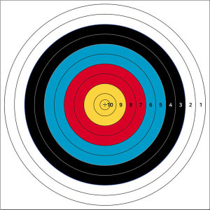 국제양궁과녁 60cm 사방펀칭 점수형 활쏘기 사냥 타켓