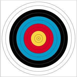 국제양궁과녁 127cm 사방펀칭 기본형 활쏘기 사냥