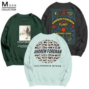 기모 맨투맨 티셔츠 오버핏 남자여자 단체티 빅사이즈
