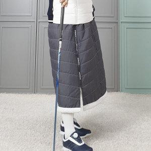 쉬핑 양털 겨울 방한기모 여자 골프 패딩 롱 치마