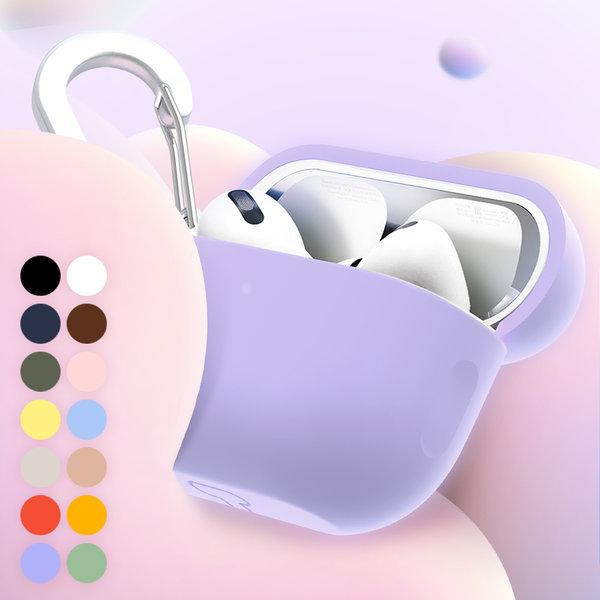 에어팟 프로 정품 실리콘 젤리 키링 케이스