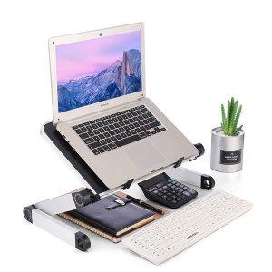 높이조절 노트북 책상 침대 테이블 화이트 T1