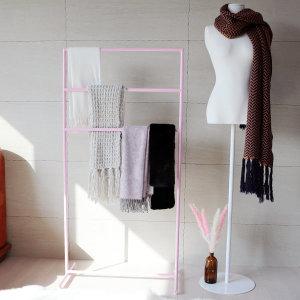 샤방룸 3단 예쁜 핑크 디자인 행거 옷걸이 주문제작