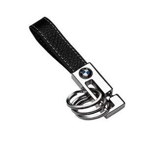 BMW 링 가죽 키체인 열쇠고리 BMW 3 Ring