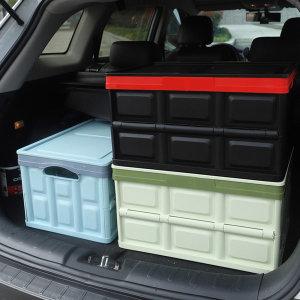 자동차 트렁크정리함 수납용품 SUV 접이식30L 블랙