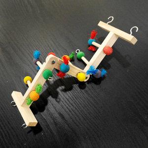 내맘대로 관절 사다리 횃대 앵무새 잉꼬 장난감