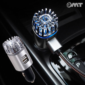 OMT 차량용 USB 충전기 휴대용 공기청정기 OC-AIR2P