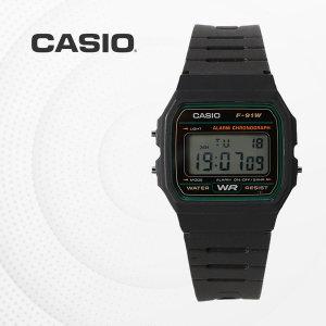 CASIO F-91W-3D 우레탄밴드 군인 전자 디지털 손목시계