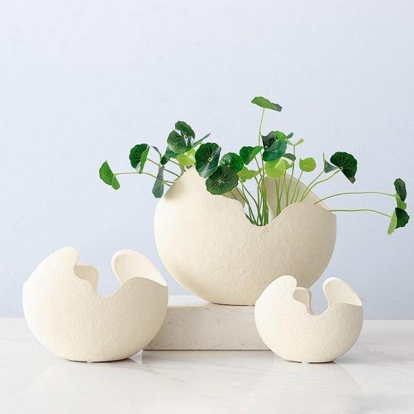 북유럽감성 달걀 화병 인테리어 화분 촬영 꽃병
