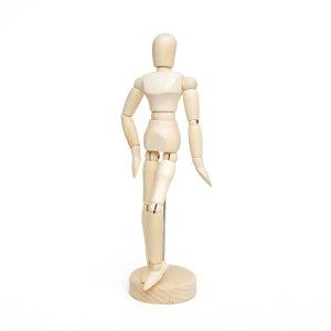 데셍 원목구체관절 나무목각인형 (20.5cm)