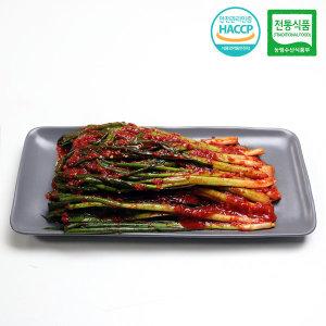 HACCP 국내산 남도 파김치 전통식품인증김치 2kg