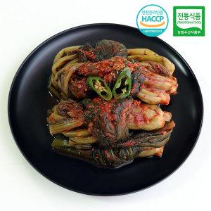 HACCP 국내산 남도 갓김치 전통식품인증김치 2kg