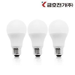 금호전기 LED 벌브 10W E26 주광색 (1묶음 3개)
