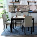 캘빈 에코 대리석 4인 식탁 세트 (의자형)