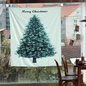 크리스마스 성탄절 패브릭 포스터 천 벽 행잉 트리 그