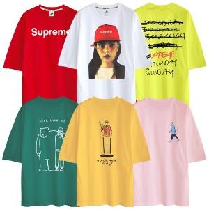 반팔티 티셔츠 남성 남자 빅사이즈 의류 면 티 S~5XL
