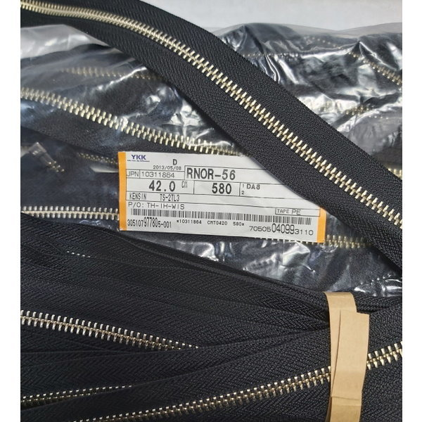 YKK 메탈 지퍼 580 Black 42Cm 10개세트 (3882)