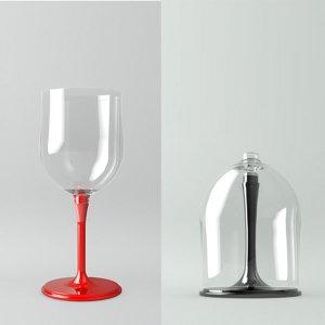 (루에나)휴대용 접이식 와인잔(와인잔 케이스포함)