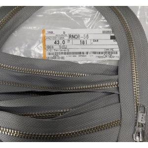 YKK 메탈 지퍼 181 Gray 43Cm 10개세트 (3884)
