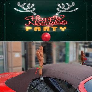 루돌프 뿔 크리스마스 데코 장식 차량용악세사리 사슴