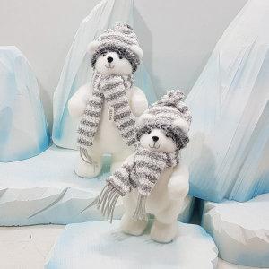 겨울소품 북극곰인형 (중) 그레이/크리스마스소품