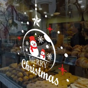 크리스마스 눈꽃 시트지 유리창 꾸미기 스티커