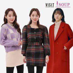 SOUP 본사 겨울 인기 패딩/롱패딩/코트/원피스