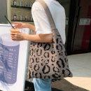 레오파드니트 에코백 여성가방 숄더백 니트백