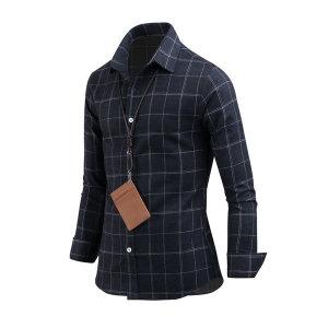 남성 겨울 레릭 체크 남자 기모셔츠 남방 sh2435