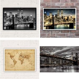 인테리어포스터 벽장식 수집용품 디자인 빈티지 심플