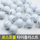 2피스화이트 A 급10개/연습용 중고 골프공 로스트볼
