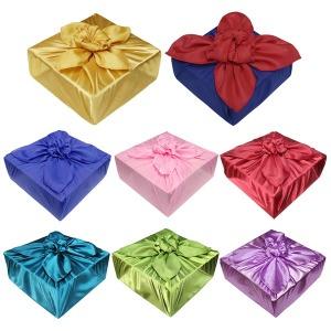 보자기천 공단 폰지 황금 과일 명절 선물 포장용 세트