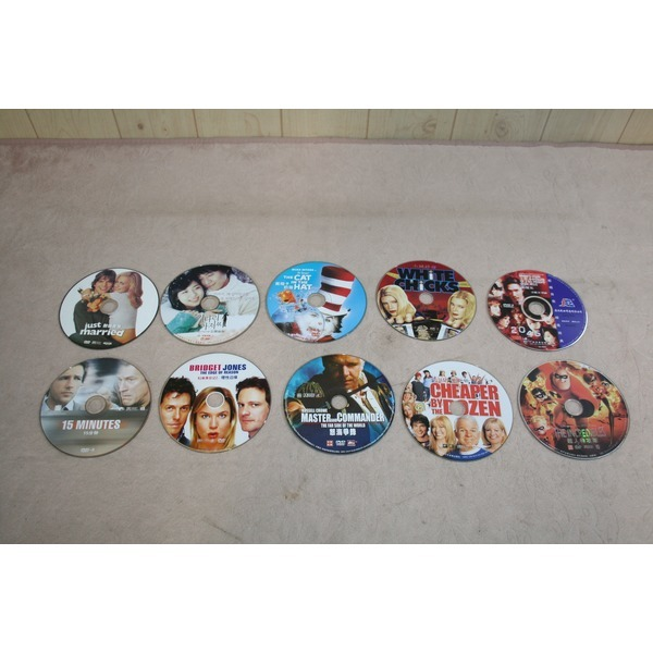 TEN2. 국내외 영화 DVD 10개 (모두 배송) 영상 비디오