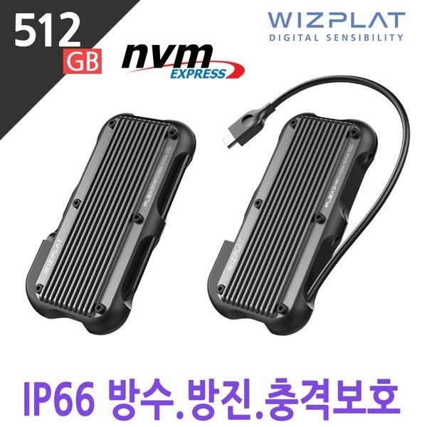 포터블 NVMe 외장SSD Rugged 충격보호 FX1000 512GB