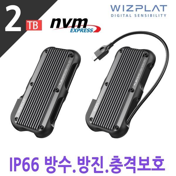 포터블 NVMe 외장SSD Rugged 방수충격보호 FX1000 2TB