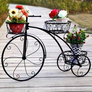 자전거 화분정리대 엔틱 인테리어 화분 거치대 (블랙)