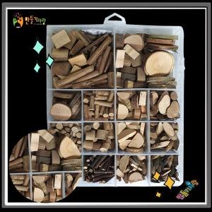 천연나무조각 16종 나무조각 종합  만들기재료 그리기